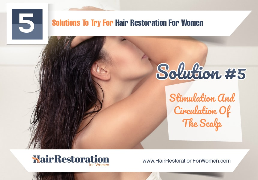 stimulation and circulation of the scalp to reduce hair loss